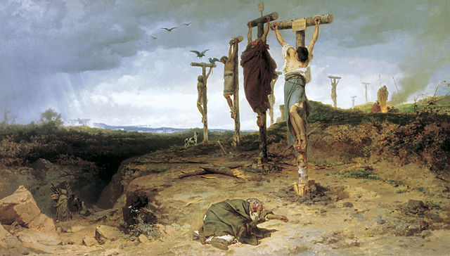 Crucification of Spartacus' followers
