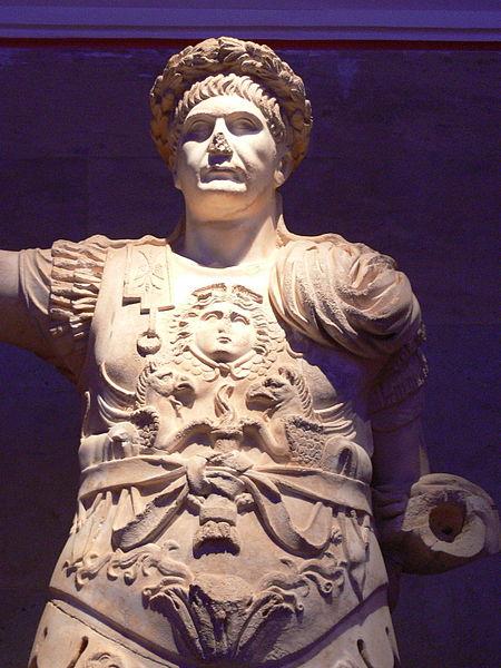 Trajan wearing Civic crown