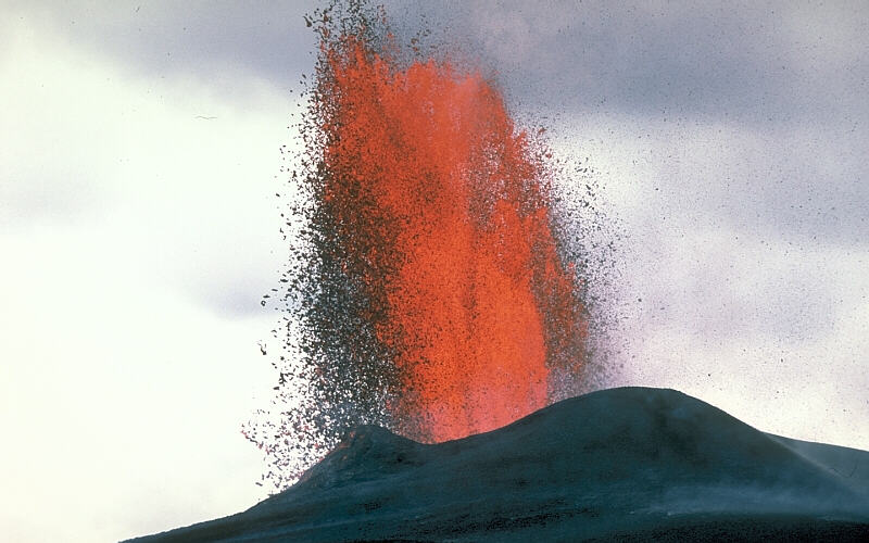 Lava fountain