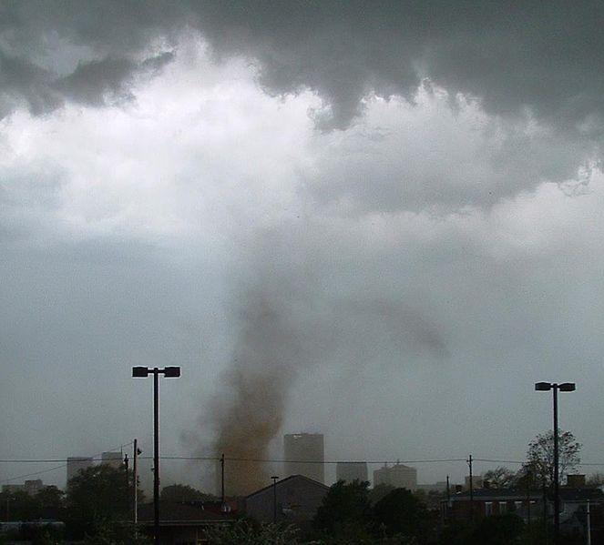 Tornado with no funnel